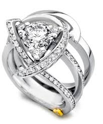 Contemporary Wedding Rings by Luxury Contemporary Engagement Ring Mark Schneider Design