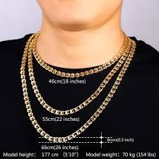trendy gold chain necklace images U7 unique necklace trendy gold silver color chain necklaces men jpg