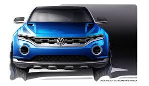 volkswagen reveals t roc convertible suv concept