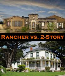 cheap 2 story houses rancher vs 2 story house pros and cons plus take our poll