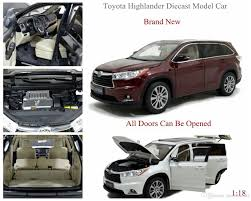 toyota highlander 2017 brand new diecast modell car for toyota highlander 1 18 scale