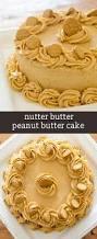 nutter butter peanut butter cake with a homemade peanut butter