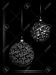 ornaments from the notes on black background stock photo