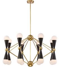 Black Chandelier Lamps Zeev Lighting Cd10170 16 Agb Mbk Crosby 16 Light 36 Inch Aged