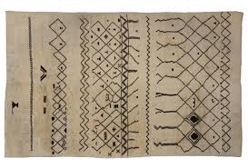 Danish Modern Rugs by Mid Century Modern Moroccan Rug With Tribal Design At 1stdibs