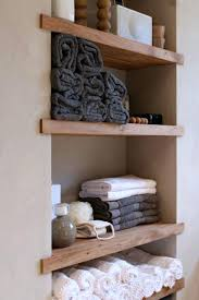 Bathroom Built In Storage Ideas Built In Wood Shelves These Timber Bathroom Shelves Are