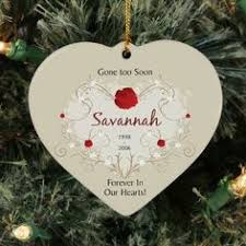 glass personalized ornament glass memorial ornament in