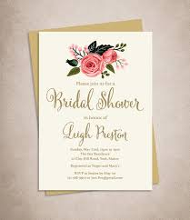 etsy wedding shower invitations rosette bridal shower invitation with blush ribbon baby
