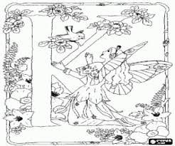 alphabet of fairies coloring pages printable games