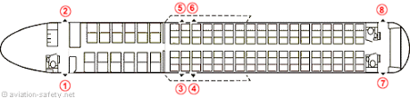 airbus a320 floor plan aviation safety network airline safety emergency exits locations
