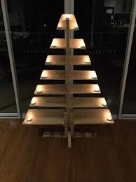 Outdoor Christmas Tree Made Of Lights by Diy Pallet Tree With Tea Lights Pallet Furniture