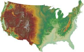 United States Geography Map by United States The Physical Landscape