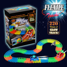 light up car track as seen on tv amazon com track toys race tracks with 38 pieces flexible tracks