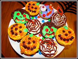 weekday chef halloween cupcakes and skeleton brownies