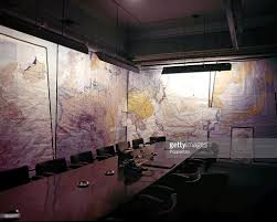 War Cabinet Ww2 London England September 1945 The Map Room In The Cabinet War
