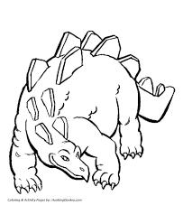 dinosaur coloring pages printable stegosaurus coloring