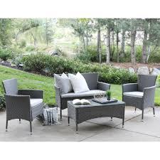 rattan garden furniture grey cushions interior design