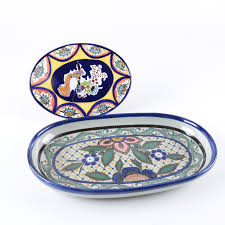 painted platters signed painted platters including talavera pottery ebth