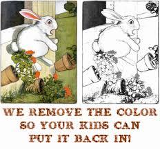 peter rabbit coloring book printable text