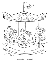 merry care bears coloring pages coloring