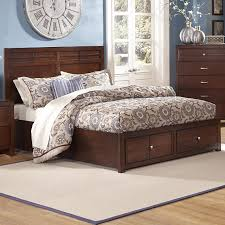 new classic kensington king low profile bed with storage footboard