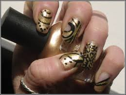 black and gold nail art designs nails fashion styles ideas