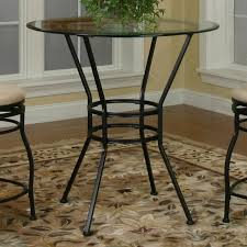Pedestal Table Base For Glass Top Round Glass Pub Table W Textured Black Pedestal Base By Cramco
