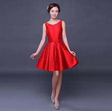 satin pretty corset lace up short ball gown prom dresses red dress