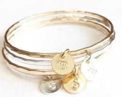 monogram bangle bracelet monogrammed bangle etsy