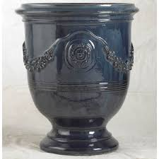 anduze cobalt blue french planters authentic provence polyvore