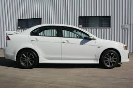 white mitsubishi lancer 2017 2017 mitsubishi lancer white solid constant variable 13km qld