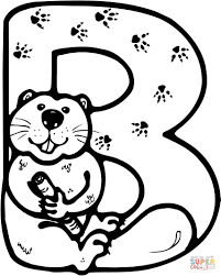 letter b is for beaver coloring page free printable coloring pages