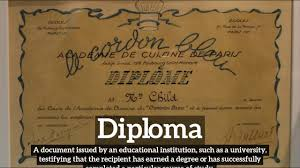 look siege social what is diploma how does diploma look how to say diploma in