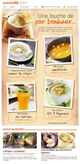 recette de cuisine en galerie de newsletters sur le thème the mailing book