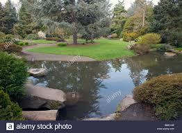 Washington State Botanical Gardens Kubota Garden Seattle Washington State Usa With Beautiful Flowers