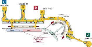 washington dc airports map pet relief areas metropolitan washington airports authority