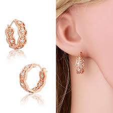 children s hoop earrings aliexpress buy gold plated filligree cluster crystals