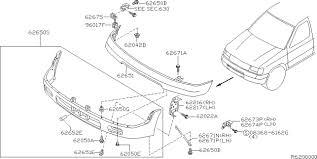 nissan pathfinder front bumper 2001 nissan xterra oem parts nissan usa estore