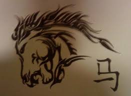 tribal horse tattoo drawing by cryogonal on deviantart