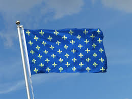 The France Flag Fleur De Lis Blue 3x5 Ft Flag 90x150 Cm Royal Flags