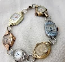 vintage bracelet watches images These vintage watches made into a bracelet are too pretty to put jpg