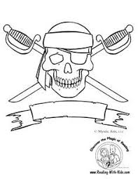 skull and bones coloring page pirates pinterest