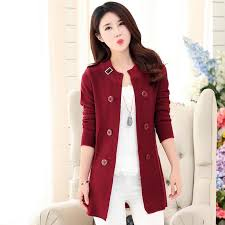 good reputation ladies sweater jacket women cardigans autumn
