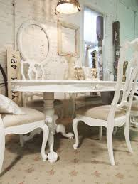 Chic Dining Room by Pretty Shabby Chic Dining Room With Retro Wall Decor And White