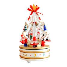 rotating music christmas tree christmas gift music box indoor