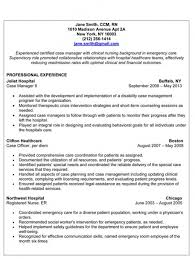 Resume Best Sample by Rn Case Manager Resume Template