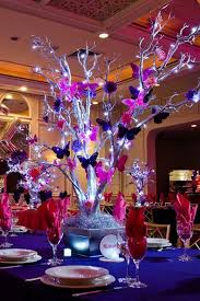 quinceanera centerpieces large centerpiece for dining table purple butterfly quinceanera