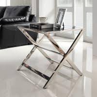 glass and metal side tables english
