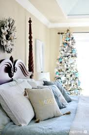 classic coastal christmas bedroom sand and sisal
