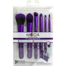 moda pro makeup brushes total face flip kit 7 pc walmart com